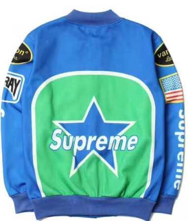 秋冬季節 希少supremexvanson スター ジャケット ブルー ホワイト 2色 ジップアップ コットン 爆買い新品 メンズパーカー.
