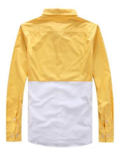 シュプリーム シャツ 長袖 supreme ロゴプリント コットン 切り替えデザイン ブラック レッド イエロー メンズシャツ 人気 4色