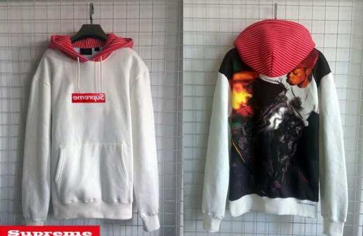 SUPREME x comme des garcons shirt pullover hoodie スウェットパーカー シュプリーム コムデギャルソン boxロゴ ブラック レッド
