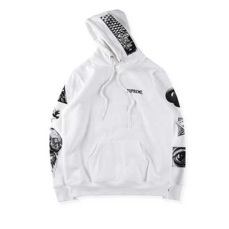 17ss supreme m.c. escher hooded sweatshirt シュプリーム パーカー マウリッツ コルネリス エッシャー パーカー ブラック ブルー