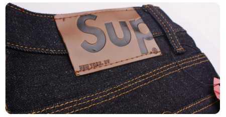 SUPREME パンツ 偽物 シュプリーム デニムパンツ ブルー ジーンズ ベーシックデニム メンズ ロゴ入り