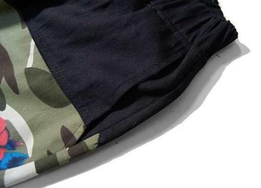 大人気 2015春夏 supreme シュプリーム メンズパンツ 花柄 boxlogo チノパン 切り替えデザイン 迷彩柄 カモ