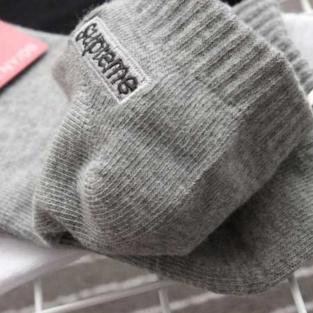 柔らかいシュプリーム 激安 サイトカバーソックスsupreme2017aw靴下ボックスロゴグレー3色可選