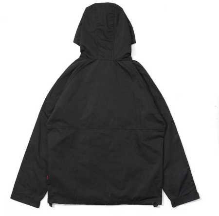秋冬季新作 黒と青 2色 supreme ジップアップ開閉式 フード付き ナイロンシュプリーム メンズジャケット.