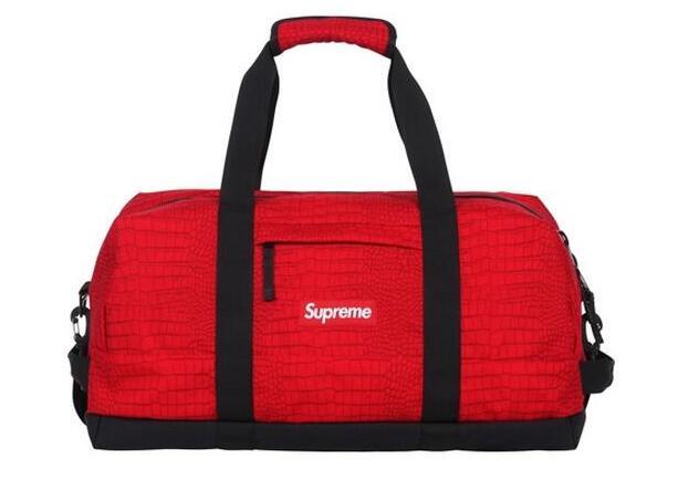 レッド supreme ショルダーバッグ シュプリーム 17ss duffle bag ボストンバッグ ダッフル コーデュラナイロン 男女兼用.