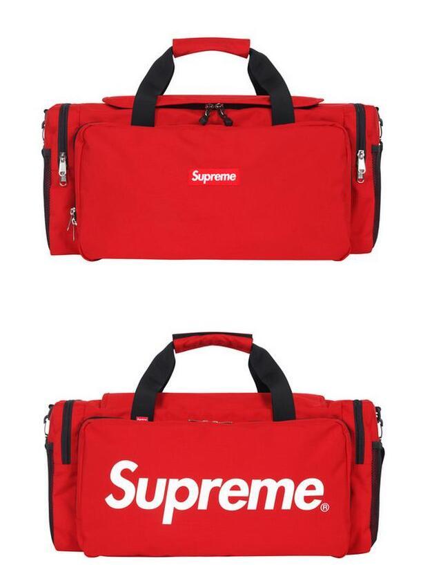 SUPREME シュプリーム 17ss box logo tonal duffle bag cordura ボストンバッグ レッド タブルファスナー 手提げバッグ.