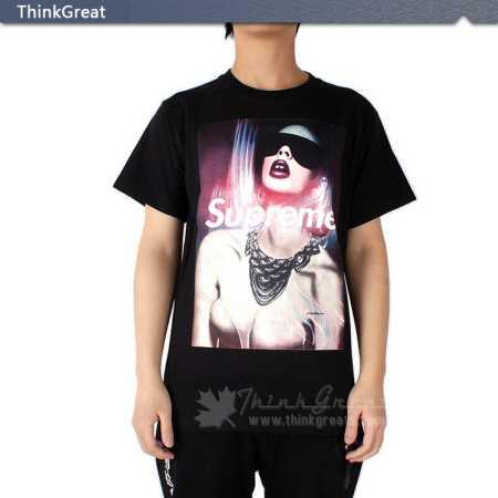 シュプリーム 偽物 男性 夏服 supreme 半袖tシャツ ホワイト ブラック 2カラー 爽やかな綿 素材 セクシー レディース画像.