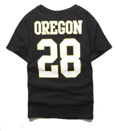 コットン100% シュプリーム 半袖tシャツ 白 黒 2色 男性 supreme oregon ducks 品質保証大人気な 夏服.