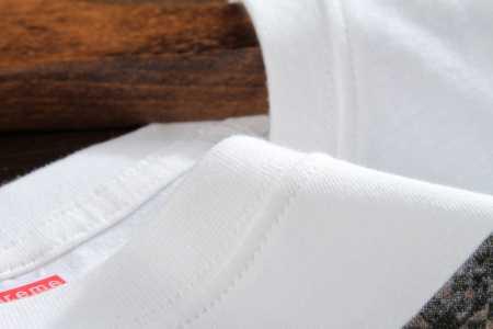 シュプリーム 半袖tシャツ ブラック グレー ホワイト 3カラー メンズ レディース 兼用 supreme 夏服 綿.