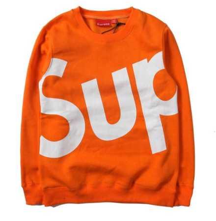 大好評シュプリーム オンライントレーナーsupreme sup crewneckスウェットトップスオレンジ多色可選