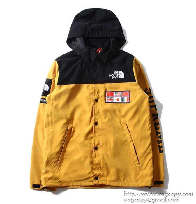シュプリーム supreme× the north face expedition coaches jacket ジャケットマップ柄 ブルー ブラック イエロー.