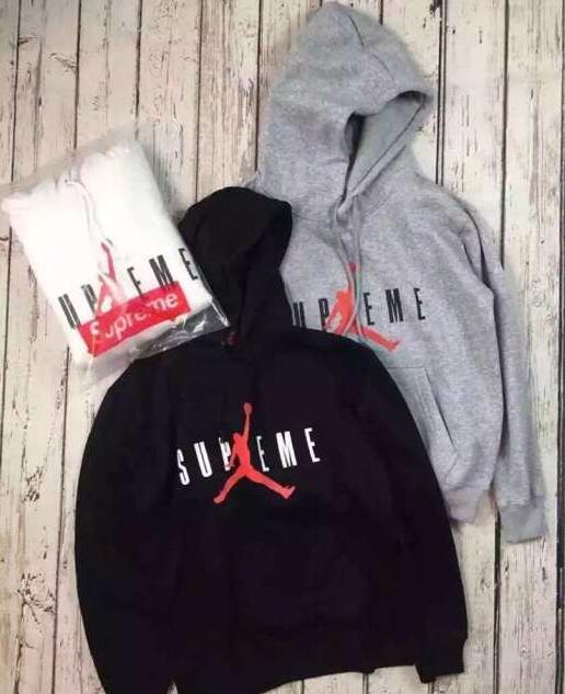 SUPREME×Jordan シュプリーム hooded sweatshirt パーカー box ホワイト、グレー、ブラック3色選択.