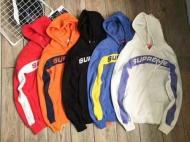 17SS シュプリーム Supreme Full Stripe Hooded Sweatshirt ストライプ スウェットシャツ メンズパーカー ブラック ホワイト