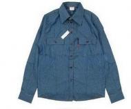 シュプリーム リーバイス SUPREMExLevis Denim Quilted Shirt デニムシャツ 長袖シャツ  春夏 ブルー