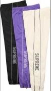 SUPREME シュプリーム 17ss Striped Logo Warm Up Pant ロゴパンツ 新作  ブラック ホワイト パープル 新品