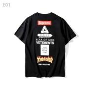 シュプリーム Supreme x Thrasher スラッシャー BOOTLEG IS BETTER 半袖tシャツ プリント ブラック ホワイト グレー
