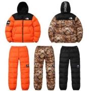 秋冬 新作入荷限定セール SUPREME x The North Face シュプリーム x ノースフェイス メンズ ダウンジャケット パンツ セット 多色 防寒性に優れる.
