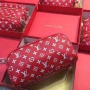 LOUIS VUITTON SUPREME 財布 ルイ・ヴィトンxシュプリーム ダブルファスナー ロングウォレット モノグラム ジッピー 赤色.