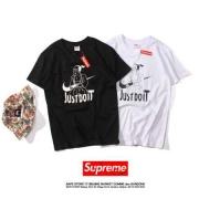 シュプリーム NIKE SUPREME ナイキ JUSTDOIT 半袖Tシャツ 新品 クルーネック プリント コットン ホワイト ブラック
