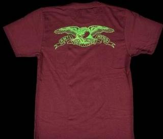 2016春夏 SUPREME x ANTIHERO シュプリーム アンタイヒーロー Pocket Tee 半袖 Tシャツ コットン ダークパープル