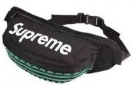 男性 通勤 通学用 SUPREME シュプリーム 偽物 メンズ ボディバッグ ブラック*グリーン ストライプ カバン.