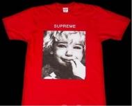 15FW SUPREME Crybaby Tee クライベイビー シュプリーム Tシャツ 半袖 コットン レッド ロゴプリント クルーネック