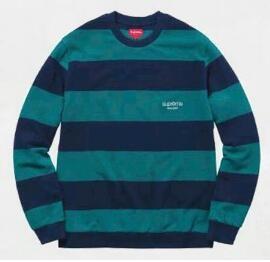 人気通販シュプリーム偽物Tシャツ長袖TシャツSUPREMEオンラインボーター柄カットソー