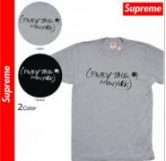 定番人気 シュプリーム tシャツ SUPREME 半袖 ブラック、グレー2色選択 ストリート コットン生地.