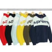 SUPREME シュプリーム パーカー サイズ感 黒、赤、イエロー、ダークブルー、ライトブルー、茶色6色選択.
