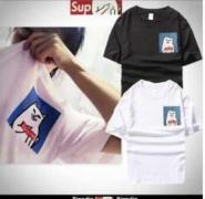 RIPNDIP x SUPREME リップンディップ x シュプリーム Tシャツ コットン生地 半袖 男女兼用 黒、白、ピンク3色.