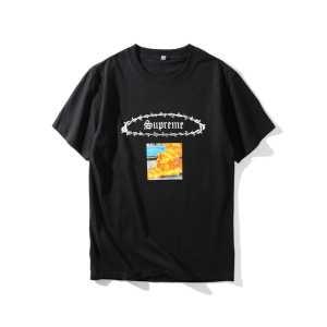 存在感のある 3色選択可 クールビズ 2017  SUPREME シュプリーム  半袖Tシャツ 大好評