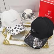人気上品シュプリームルイヴィトンコピーキャップモノグラム柄SUPREME LV 帽子ロゴあり2色可選
