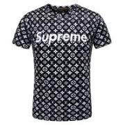 18最新作 シュプリーム x ルイヴィトン 半袖Tシャツ クルーネック SUPREME LOGO モノグラム総柄 2色可選