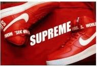 超人気NIKE x Supreme ナイキ SB エアフォース シュプリーム スニーカー クラシックロゴ バスケットシューズ