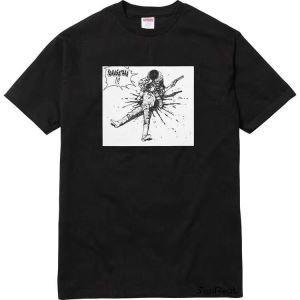 漫画プリント 夏季 半袖 シュプリーム 激安 Tシャツ ブラック レッド 2色 展開 SUPREME ファション 人気アイテム