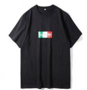 2018人気シュプリームボックスロゴTシャツクルーネック男女兼用ストリート半袖Tシャツ2色可選