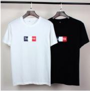 お洒落なシュプリームボックスロゴTシャツクルーネック半袖tシャツ男女兼用2色可選