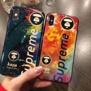 2018シュプリーム激安定番アイテムおしゃれSUPREME AaPeブランドロゴiPhoneケース男女兼用2色可選択