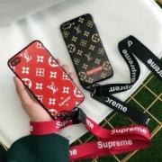 お得なセール!Supreme ×Louis Vuittons シュプリーム ルイ ヴィトンiphoneケース コピー ストラップ付 iPhone7ケース 2018限定品