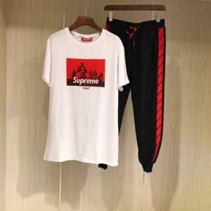 2018年最も注目 SUPREME 人気 2点セット シュプリーム Tシャツ 激安 偽物 数に限り セール大特価 快適 洗練 半袖 夏着
