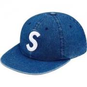 insファションアイテム!Supreme 限定 Washed Chambray S Logo 6-Panel キャップ 大人気ファション シュプリーム 帽子 ユニセックス