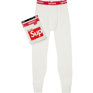 話題の商品 SupremeHanes Thermal Pant 2色選択可 スエットパンツ 限定数限り 質感に満足
