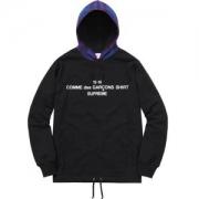 人気爆だんな売れ筋! SUPREME X CDG Hooded Sweatshirt パーカー  2色選択可 品質の良さ