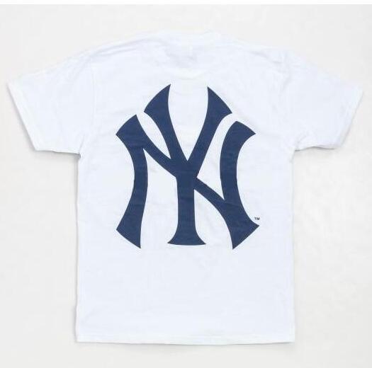 シュプリーム supreme new york yankees box logo tee ホワイト tシャツ ボックスロゴ クルーネック コットン