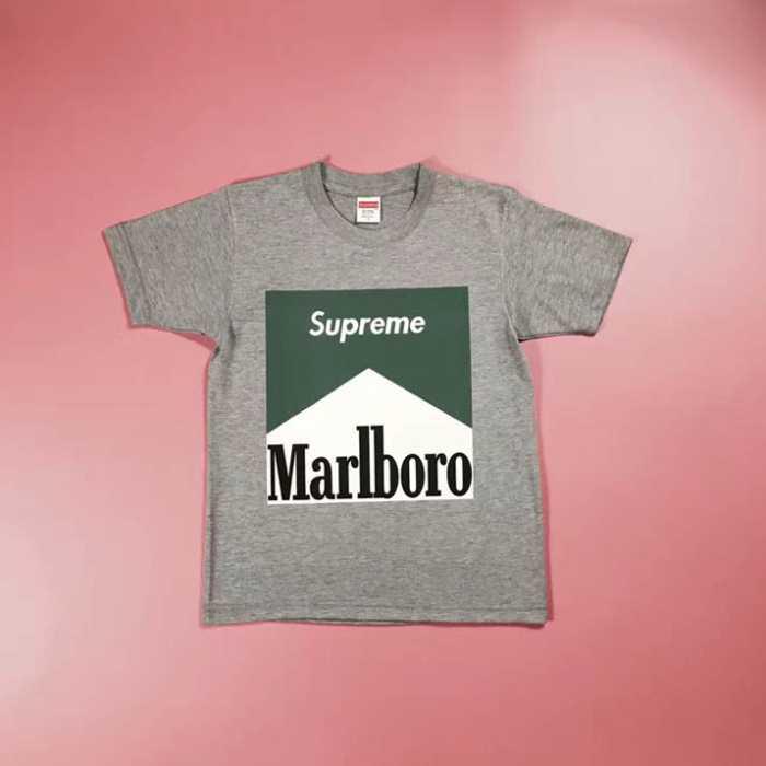 【夏季セール半袖】Supreme シュプリーム tシャツ偽物通販 お洒落 最注目 半袖 supreme x marlboro コットン ホワイト ブラック グレー