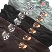 SUPREME シュプリーム Tom&Jerry S/S Work Shirt トムとジェリー 半袖シャツ ブラック ブルー ブラウン コットン