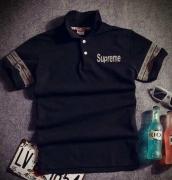 SUPREME シュプリーム 半袖 コピー ポロシャツ POLO BLACK カジュアル クラシックロゴ  ブラック グレー ロゴ入り