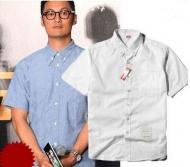 トムブラウン シュプリーム シャツ 偽物 THOM BROWNE/SUPREME コラボ 半袖シャツ 人気 シャツ ホワイト ブルー