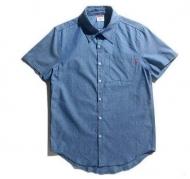 2015春夏 新作 SUPREME シュプリーム 半袖シャツ Cruise Shirt クルーズシャツ ホワイト グレー ブルー コットン 人気アイテム