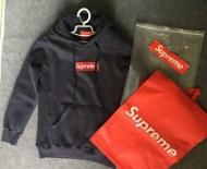 15秋冬 SUPREME シュプリーム Box Logo Hooded Sweatshirt ボックスロゴ スウェットパーカー グレー ブラック
